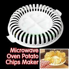 SE#N DIY Chip Maker Microwave Oven Potato No Oil Salt Vegetable Slicer Gadget H