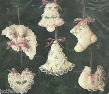 BUCILLA VICTORIAN CHRISTMAS BEADED STITCHERY ORNAMENTS SET OF 6,MPN 82180,SEALED