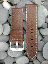 26mm Top Quality Brown BUFFALO LEATHER STRAP Watch BAND for 47mm PAM 26