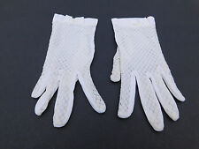 *DESIGNER LADIES WHITE NYLON DRESS GLOVES UNLINED SIZE 6.5