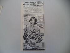 advertising Pubblicità 1960 BISCOTTI LAZZARONI