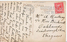 Genealogy Postcard - Family History - Mackay - Scarborough Ave - Skegness  A1630