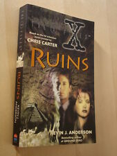 Kevin J Anderson, The X-Files, Ruins, paperback book, Fox Mulder, Dana Scully