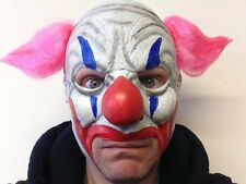 Scary Clown Mask Chinless Jester Circus Twisty Latex Fancy Party Masquerade
