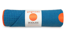 BLUE Yogitoes skidless yoga mat towel 24 x 68 MANDUKA NEW FAST SHIP