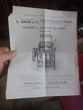 Machine Outil à Travailler le Bois et Façonner les Sabots  A Jardon ( ancien s )