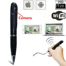 HD 720P Wifi IP Wireless Spy Hidden Pen Camera Network Security F IOS Android