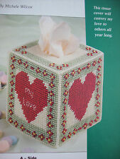 "''MY LOVE TISSUE BOX COVER""~*~PLASTIC  CANVAS PATTERN~*~"