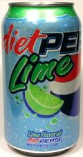UNOPENED EMPTY 12oz 355ml American (Old Style) Can Diet Pepsi Lime USA 2006