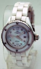 Oniss ON8207-L Women's Swiss Movement MOP Dial White Ceramic Watch