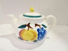 Vintage Stangl FRUIT Teapot  Terra Rose  Hand  Painted, Excellent