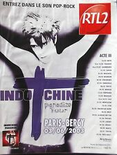 PUBLICITE  RADIO  RTL 2   INDOCHINE  EN 2002  REF 8520