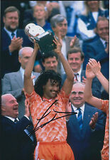 Ruud GULLIT Signed Autograph 12x8 Photo AFTAL COA Dutch Football Legend