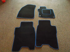 Honda Civic Type S 2008+ Velour Black/Blue Trim Car Mats- With Passenger Fixings