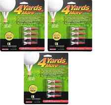 "4 Yards More Tees 3x Four Pack Red 1.75"" 1 3/4"" 12 Golf Tees Hybrid / Irons"