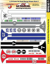 MG3418 - 1/24 High Def Racing Decals Fat Head Racing Stripes Style 2
