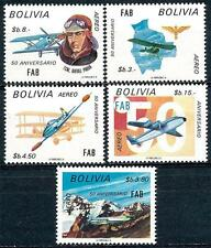 BOLIVIA 1974 AIR FORCE SC#C331-35 VF MNH PLANES MILITARY DID YOU SEE BEST OFFER?