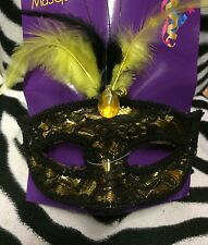 Gold. & Black Lace  Mask Perfect Halloween Christmas New Years Eve Masquerade