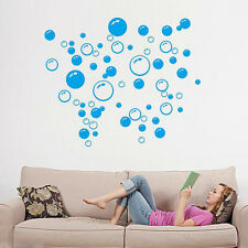 DIY Black/Blue/Rose Red Bathroom Bubbles Mural Wall Stickers PVC Decal Art Decor