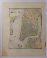 New-York carte map Etats-Unis United States National Atlas 1838