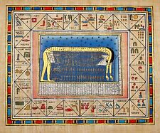 Egyptian Hand-painted Papyrus Art: Hieroglyphic Alphabet The Sky Goddess Nut