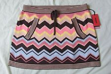 New Missoni For Target Sweater Skirt Size Small Zig Zag Brown/Pink Multi Chevron