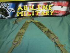 US MILITARY Y SUSPENDERS  OD LC2 LOAD BEARING LBE SHOULDER HARNESS EXCELLENT