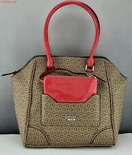 New Stylish 100% Original Handbag GUESS Rhea Totes Bag Brown Ladies