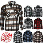 NEW MENS ADULTS LUMBERJACK BOYS POLY COTTON WORK FLANNEL LONG SLEEVE SHIRT TOP