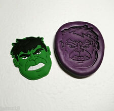 Silicone Mold Large Hulk Face Avengers Mould (44mm) Sugarcraft Fondant Clay Fimo
