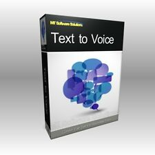 Convert Text to Voice Speech and Save as Audio WAV File Software Program