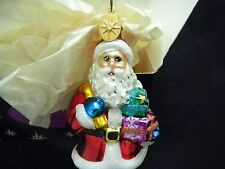 "Christopher Radko ""Santa Joy"" Carrying Gifts 1998 Ornament With Box 5 1/2"" Tall"