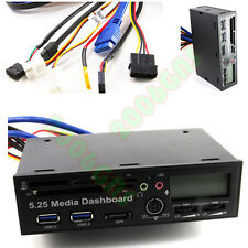 5.25 inch USB 3.0 Media Dashboard Front Panel PC Multi Card Reader SATA