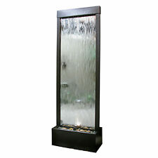 Water Fountains Indoor Floor Lighted Mirror Feature Waterfall Pump Tower Calming