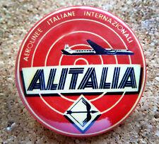 1954 Alitalia Airline Design Button Pin Back Modernist Mid-Century Deco #32