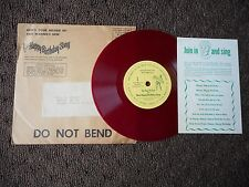 """FRED WARINGS """"HAPPY BIRTHDAY SONG"""" 7"""" 45 MAIL ORDER ONLY W/ ENVELOPE RED VINYL"""