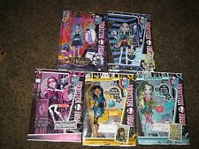 New Lot of 5 Rare Monster High Dolls Twyla Lagoona Blue Spectra Polterghoul Cleo