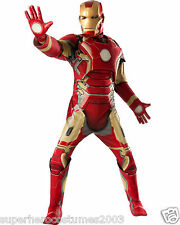 Avengers Age Of Ultron Iron Man Deluxe Muscle Adult Costume Brand New - 810296