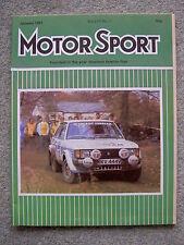 Motor Sport (Jan 1981) Alfa Romeo GTV6, Mercedes 300SL, Caterham 7, Jaguar XJS