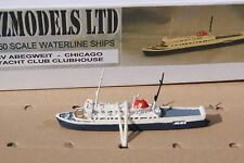 Chicago Columbia Yacht Club's MV Abegweit 1/1250 Painted Waterline Model ship