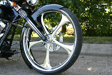 "Harley Davidson 30"" Inch Custom ""OZ"" Chrome Front Wheel  from FTD Customs"