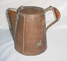 Antique Civil War Period Large Coffee Pot with Copper Bottom