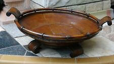 EARLY 20c CHINESE LARGE COPPER ROUND 4 FEET 2 HANDLES BOWL