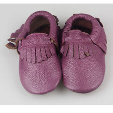 Genuine Leather Baby Moccasins Tassels for Infant Toddler Boys Girls Unisex Shoe