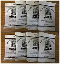 Claeys Licorice Old Fashioned Hard Candy 8 PACK 6oz Bags FREE SHIPPING