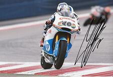 Maverick Viñales Mano Firmado Paginas Amarillas Hp 40 12x8 Foto 2014 Moto2.
