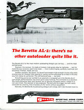 1970 Print Ad of Garcia Sporting Arms Beretta AL-2 Autoloading Shotgun       red