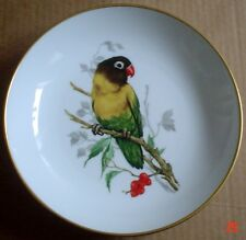 Furstenberg Collectors Wall Plate LOVE BIRD PAROKEET