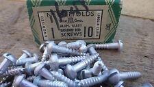 """40 X Nettlefolds GKN Tornillos De Aluminio De 1"""" X 10 cabeza redonda cabeza ranurada nos"""