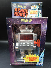 vintage Imco Wind-Up SPACE ROBOT sparkling action toy w/ box nice sci-fi WORKS !